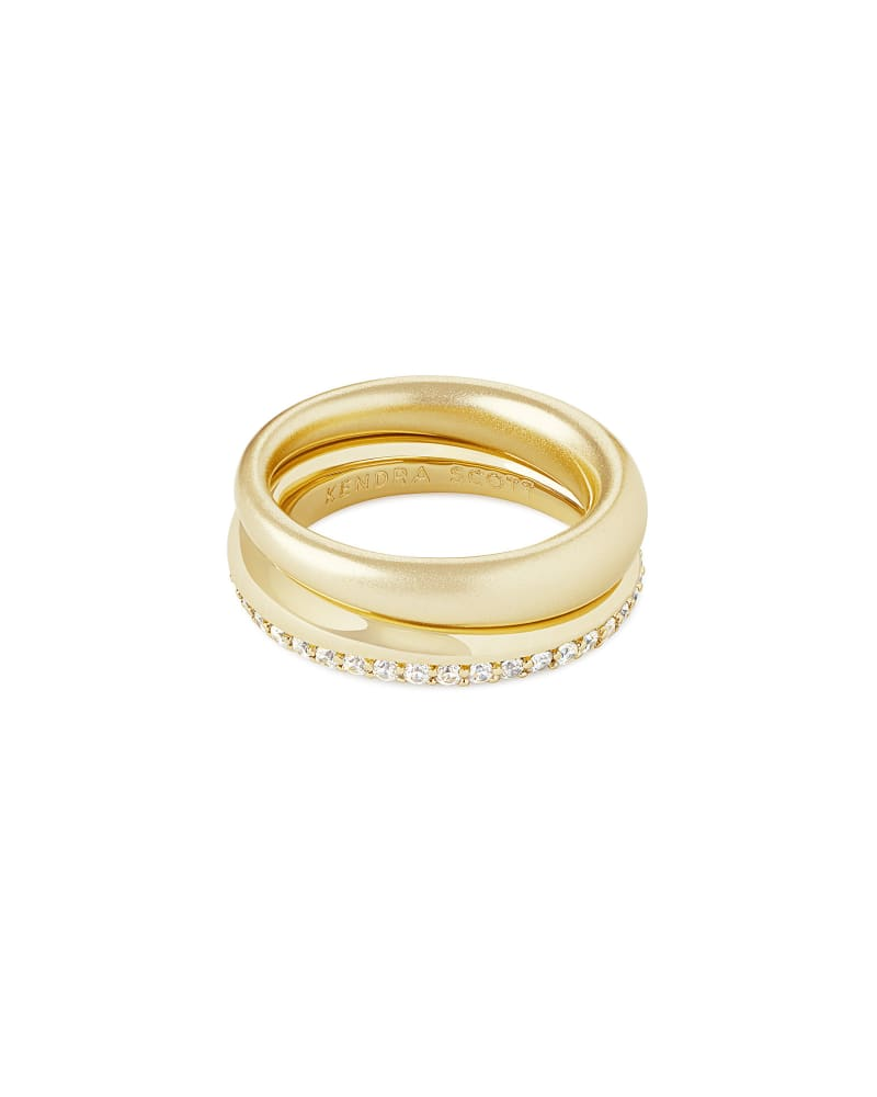 Colette Ring Set of 2 in Gold