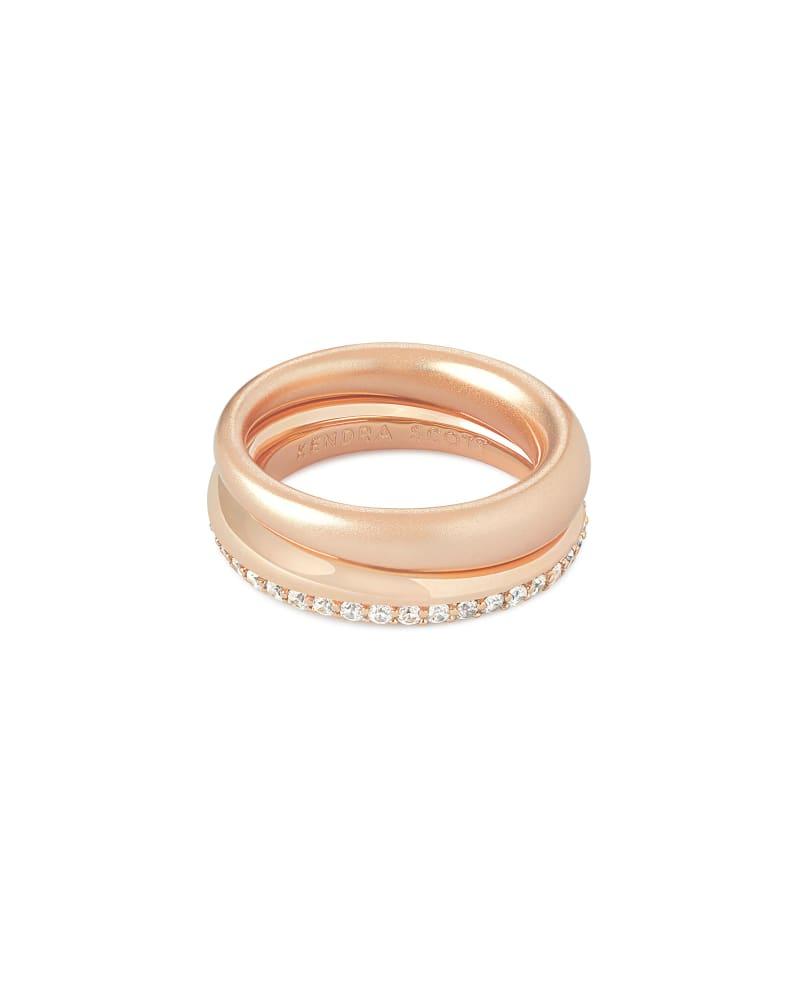 Colette Ring Set of 2 in Rose Gold