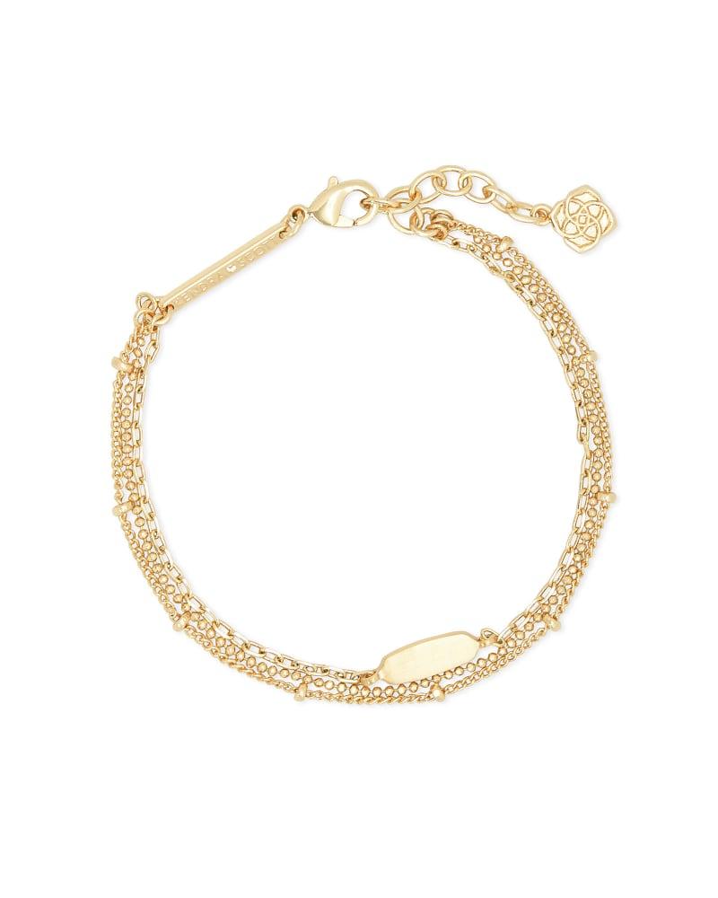 Fern Multi Strand Bracelet in Gold