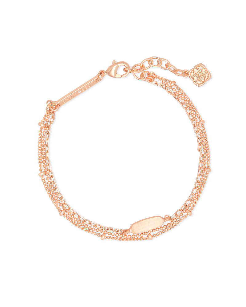 Fern Multi Strand Bracelet in Rose Gold