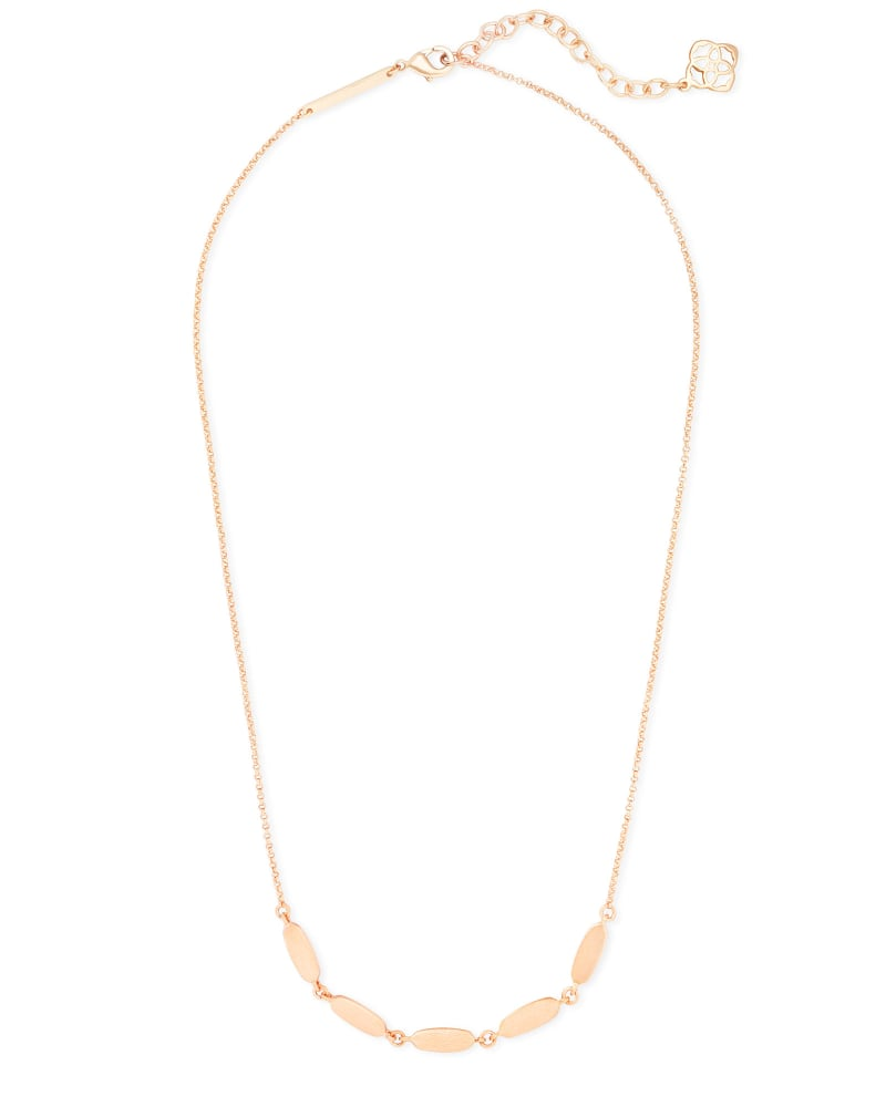 Fern Collar Necklace in Rose Gold