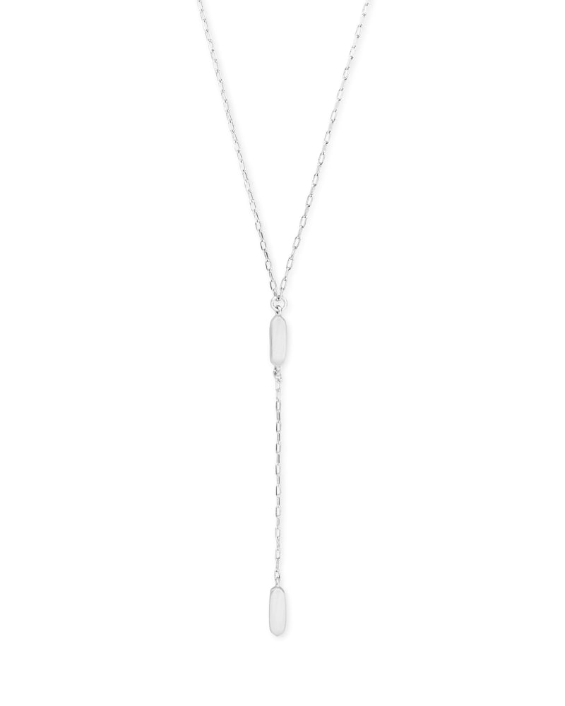 Fern Y Necklace in Bright Silver