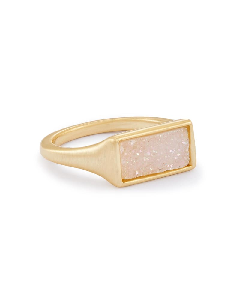 Glenna Gold Cocktail Ring in Iridescent Drusy