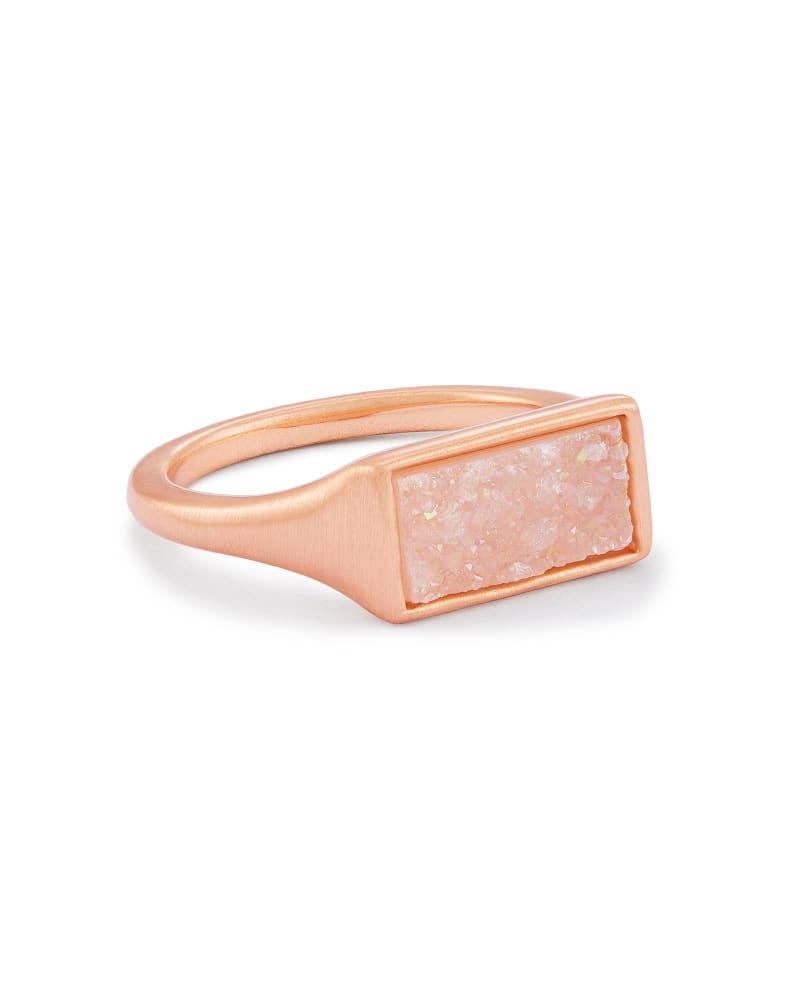 Glenna Rose Gold Cocktail Ring in Iridescent Drusy