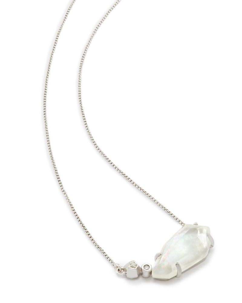 Barbara Pendant Necklace in Silver