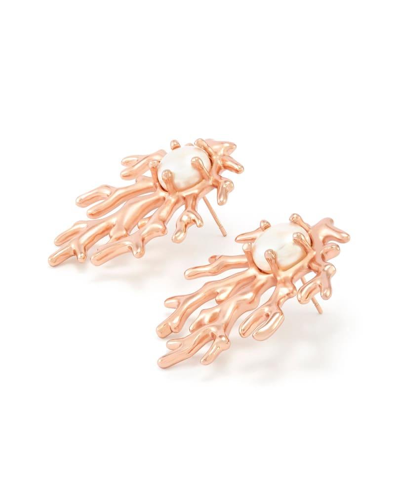 Hattie Stud Earrings in Rose Gold