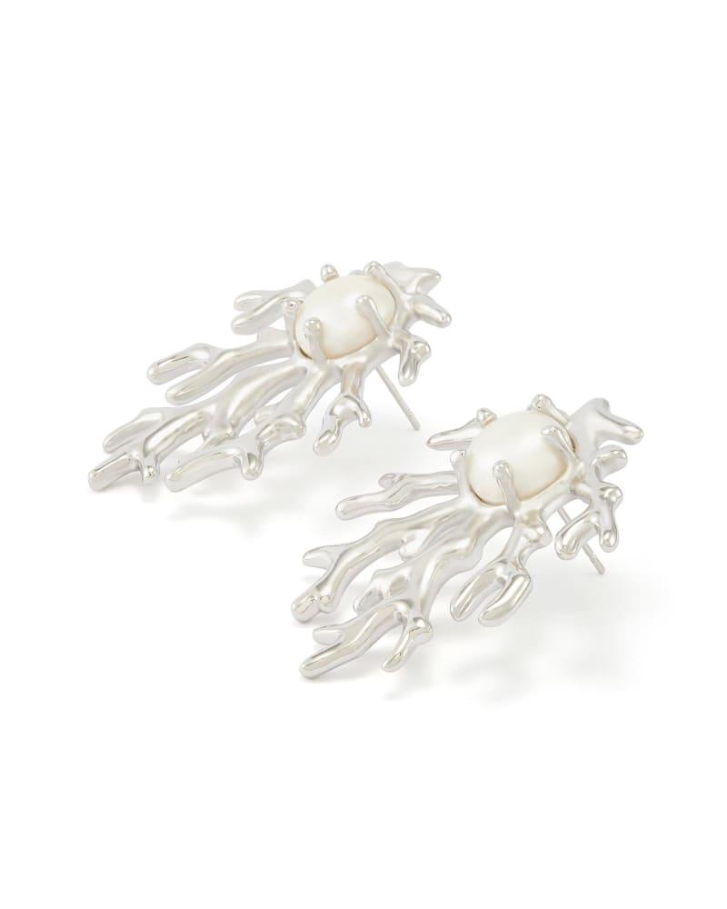 Hattie Stud Earrings in Silver