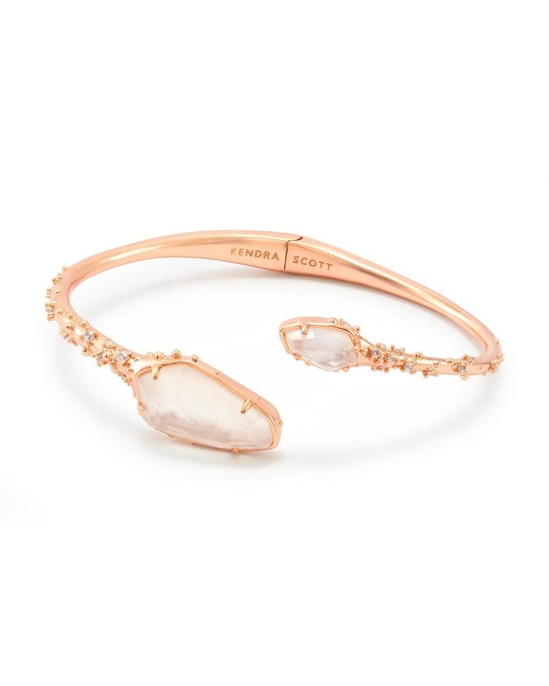 Zander Hinge Cuff Bracelet in Rose Gold