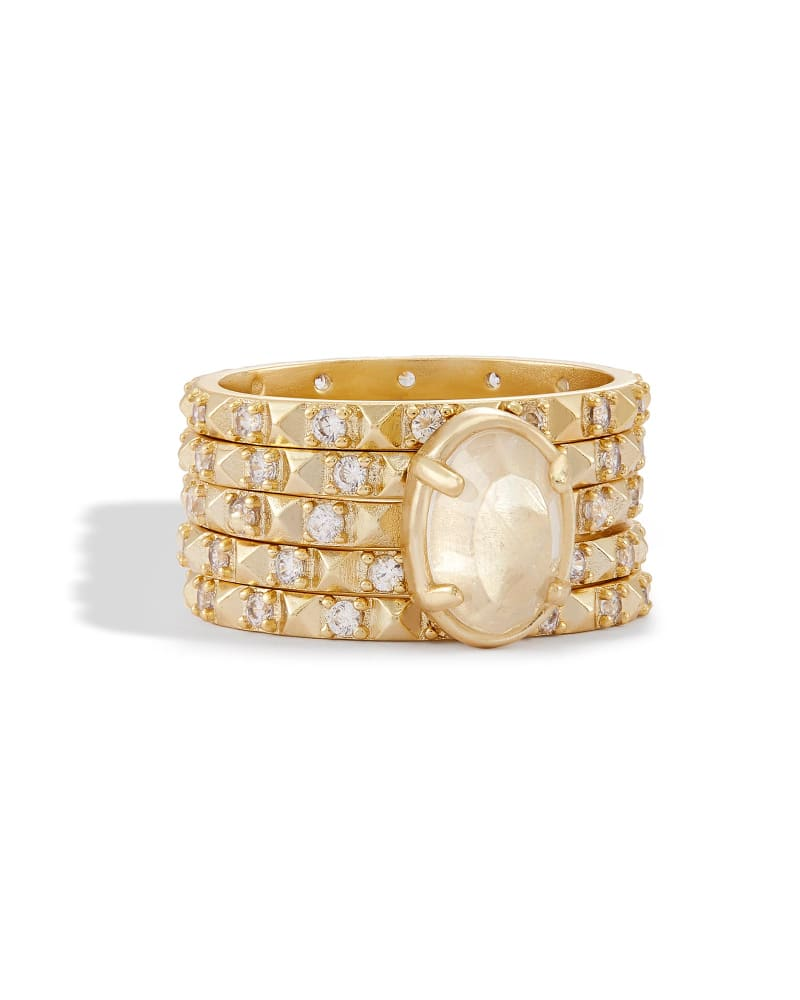 Reya Stackable Ring Set in Gold