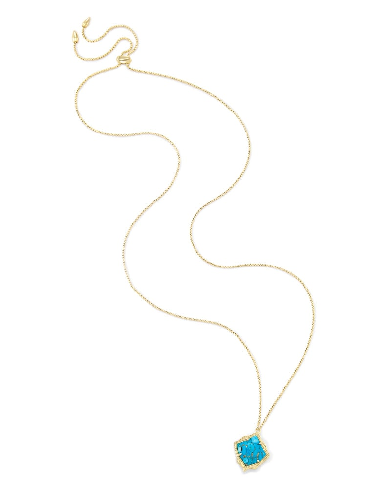 Kacey Pendant Necklace in Gold
