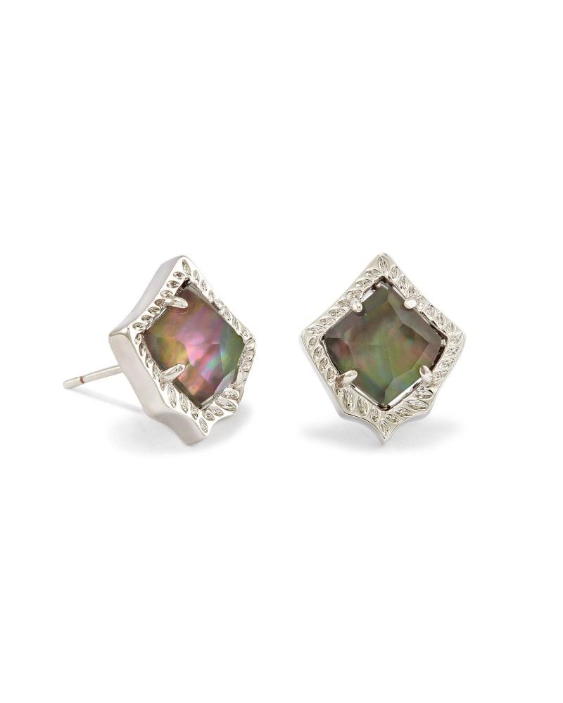 Kirstie Stud Earrings in Black Pearl