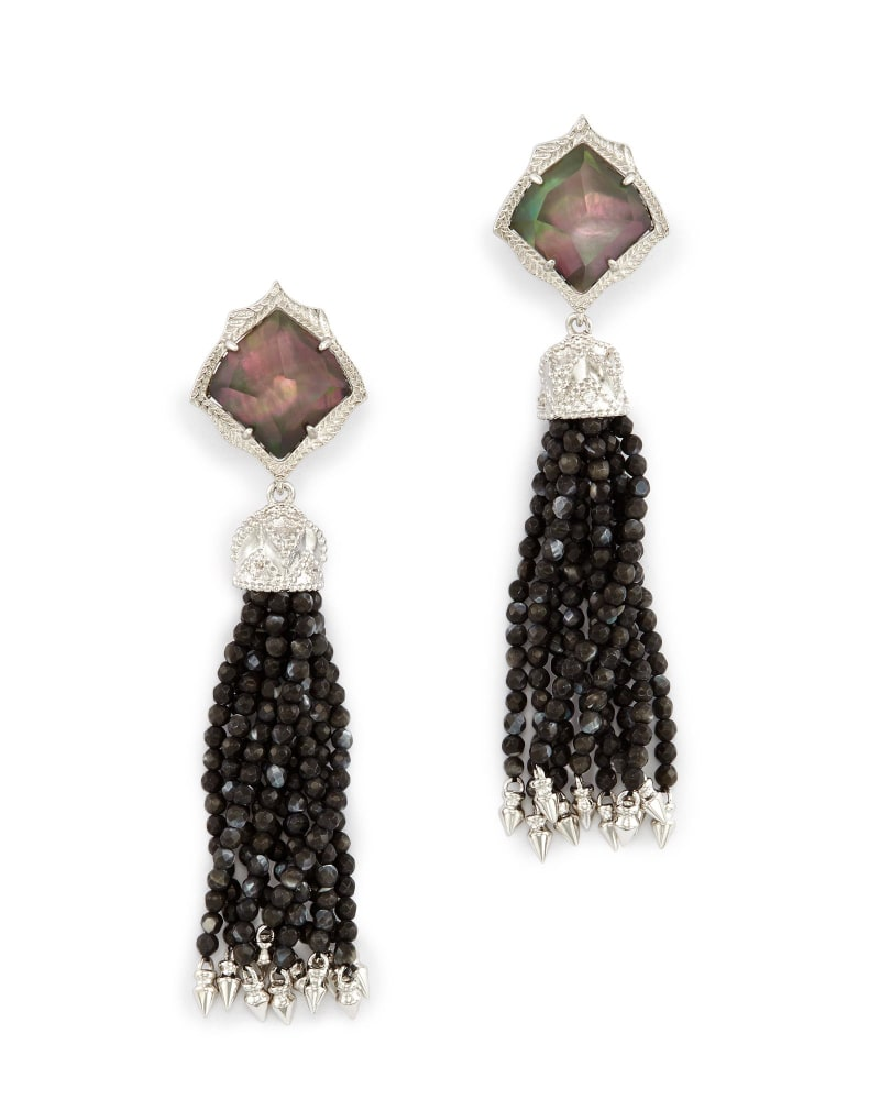 Misha Clip On Earrings in Black Pearl