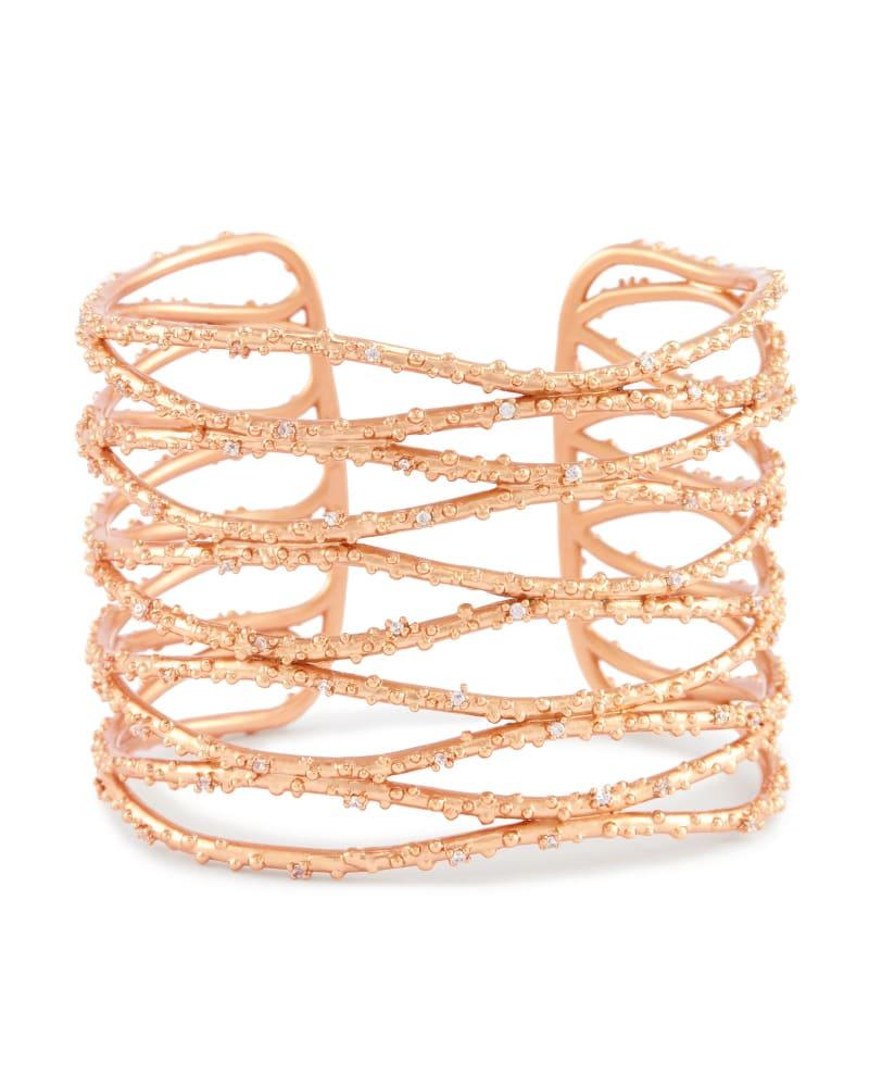 Nicolas Cuff Bracelet in Rose Gold