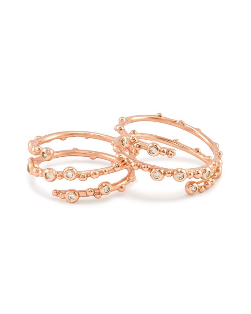 Zoe Ring Set in Rose Gold - M/L