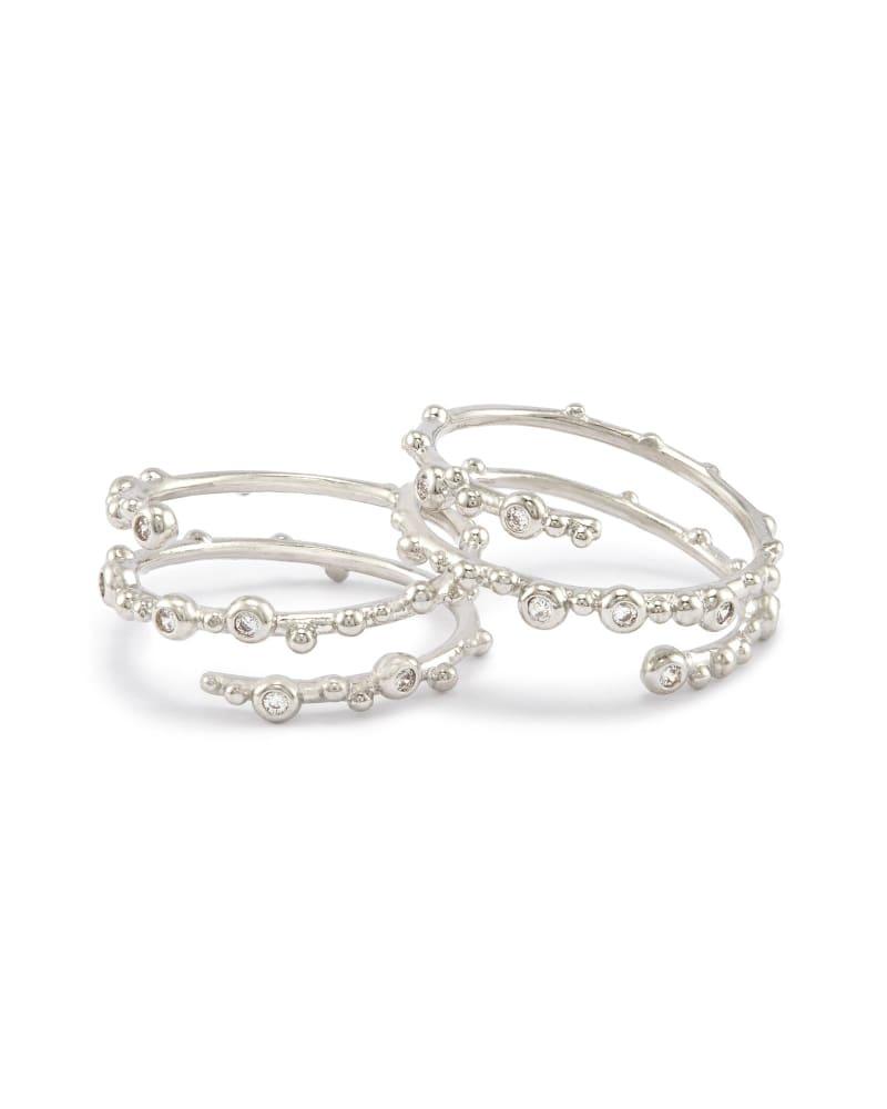 Zoe Ring Set in Silver