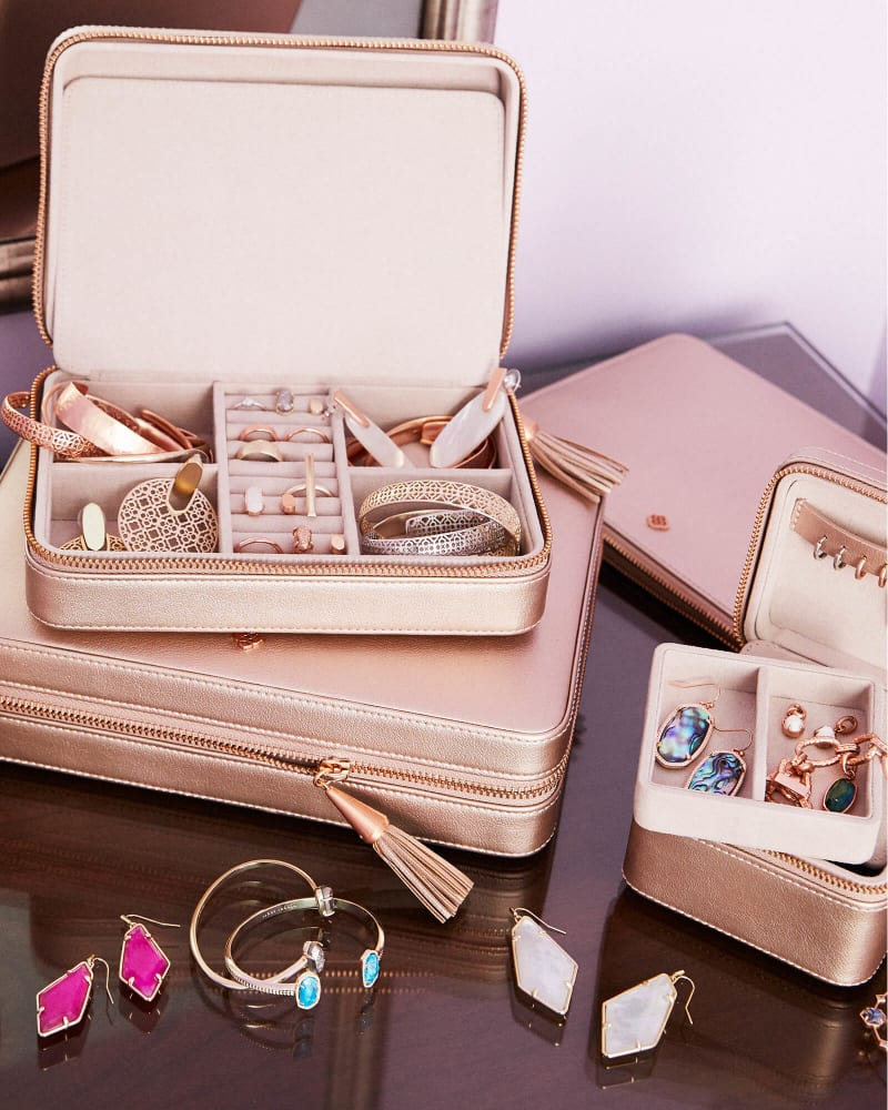 Large Travel Jewelry Case In Rose Gold Kendra Scott