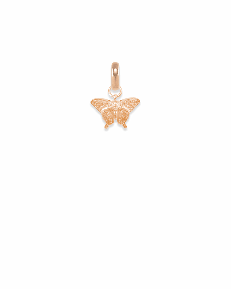 Alabama Swallowtail Butterfly Charm in Rose Gold