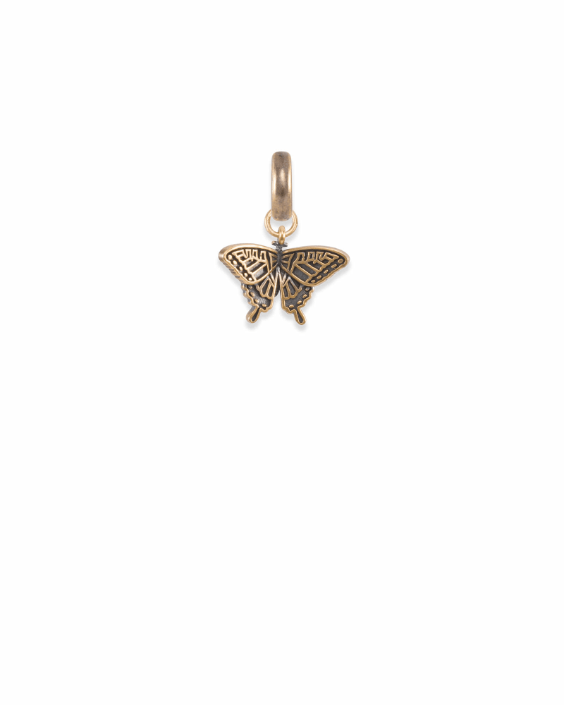 Alabama Swallowtail Butterfly Charm in Vintage Gold