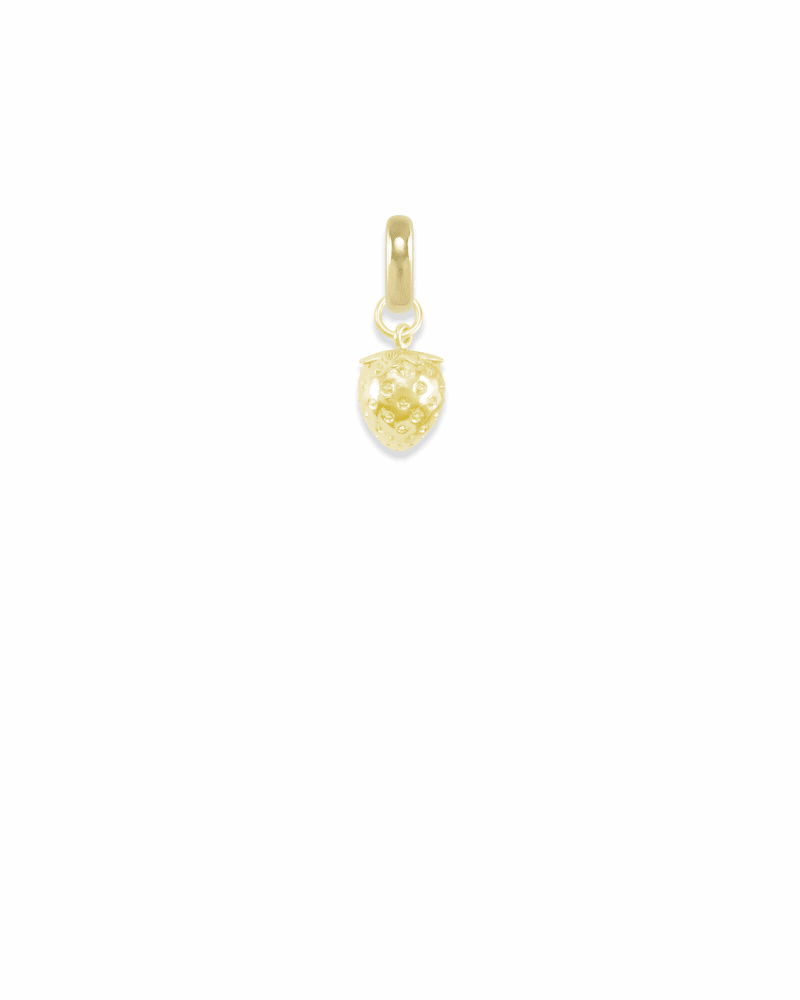 Delaware Strawberry Charm in Gold
