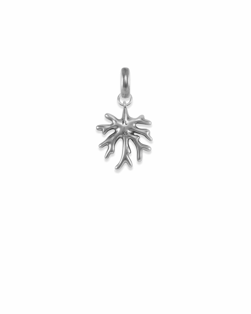 Florida Coral Charm in Vintage Silver