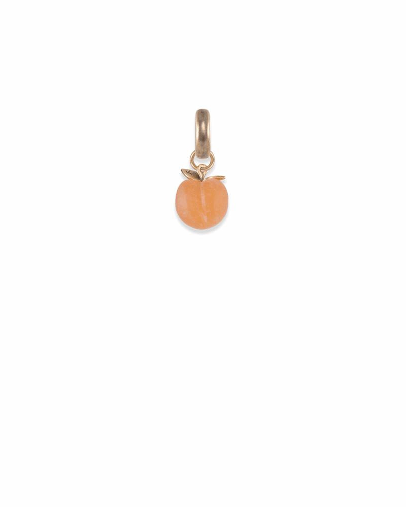 Georgia Peach Charm in Vintage Gold