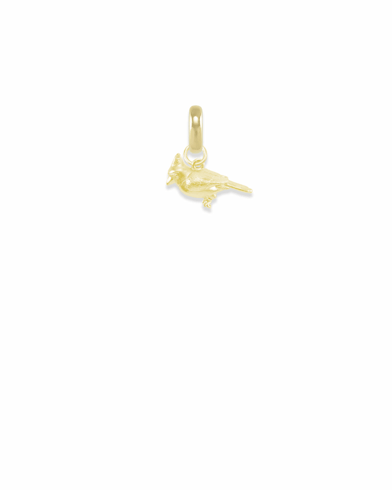Illinois Cardinal Charm in Gold