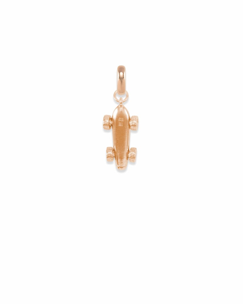 Indiana Race Car Charm in Rose Gold