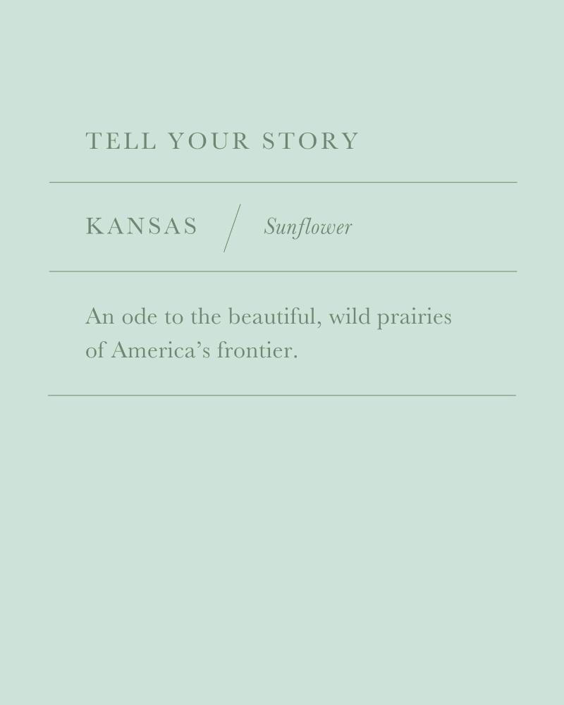 Kansas Sunflower Charm in Gold