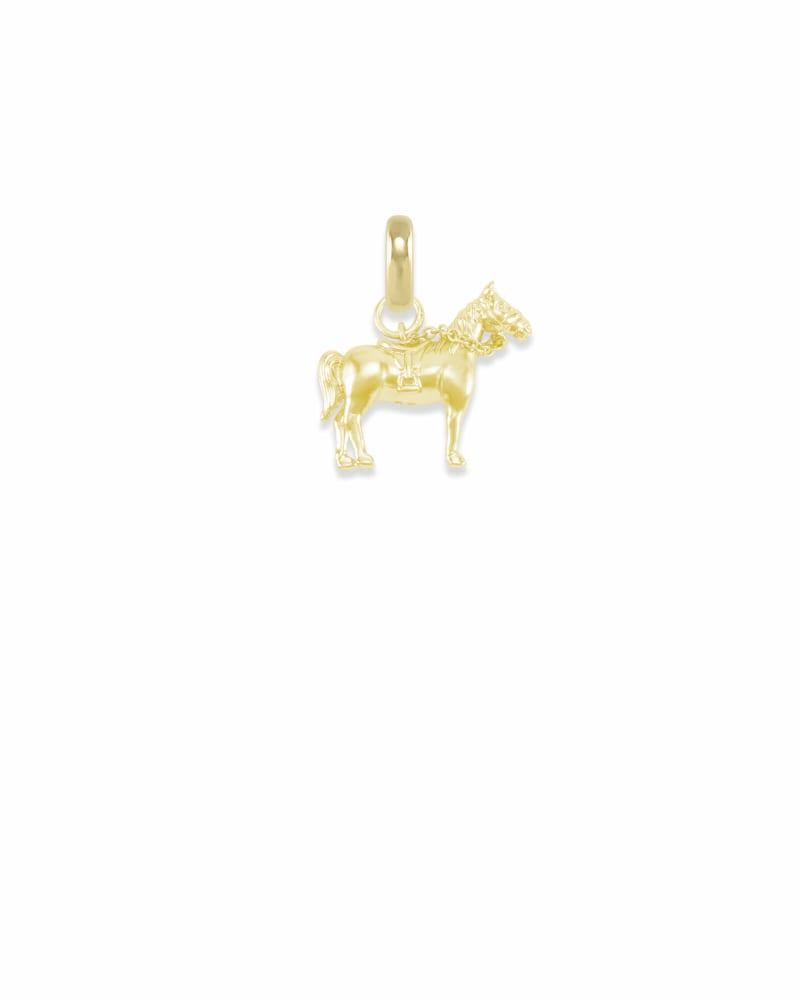 Kentucky Race Horse Charm in Gold