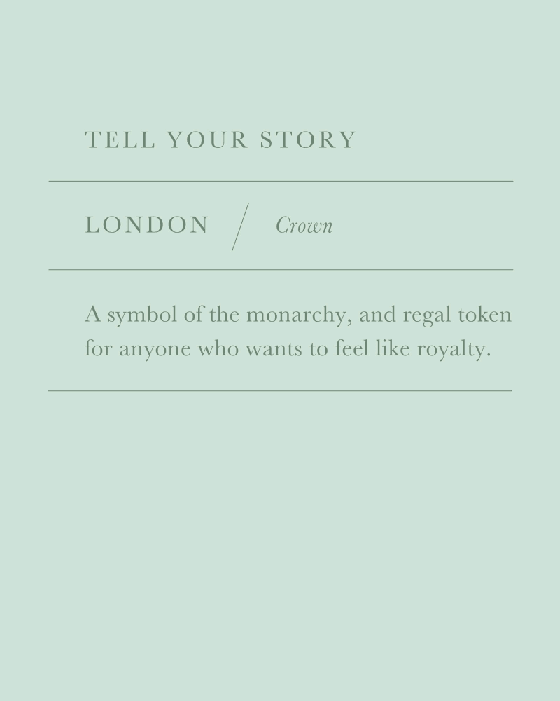 London Crown Charm