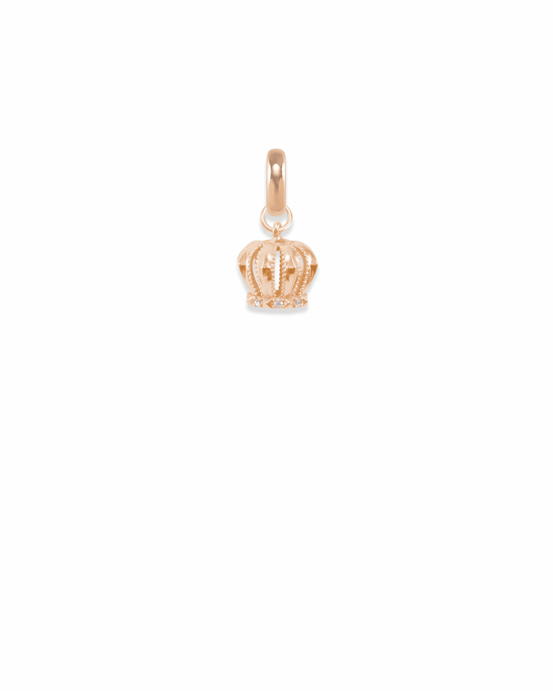 London Crown Charm in Rose Gold