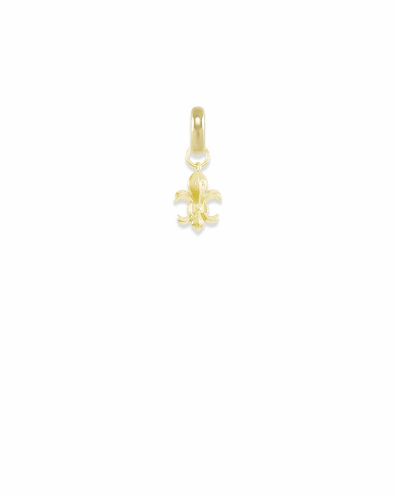 Louisiana Fleur-de-lis Charm in Gold