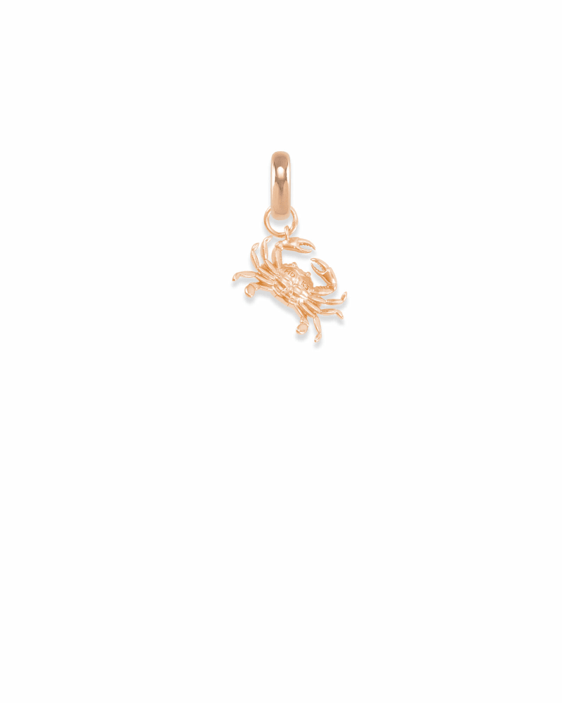 Maryland Blue Crab Charm in Rose Gold