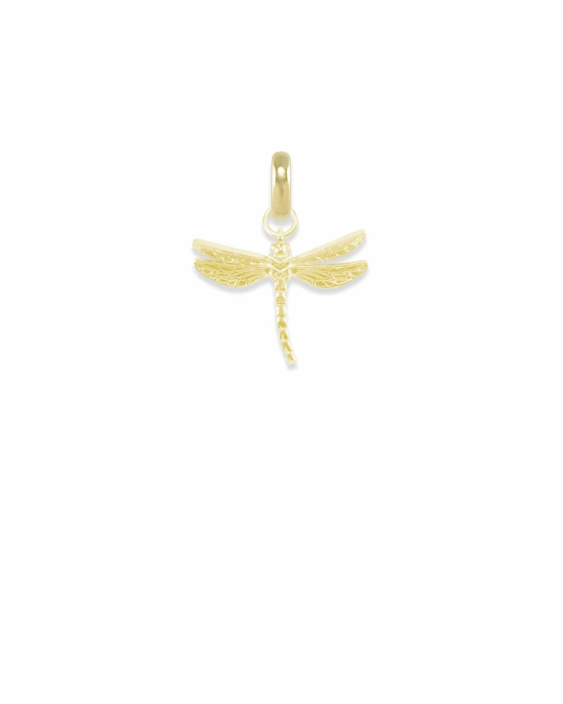 Michigan Dragonfly Charm in Gold