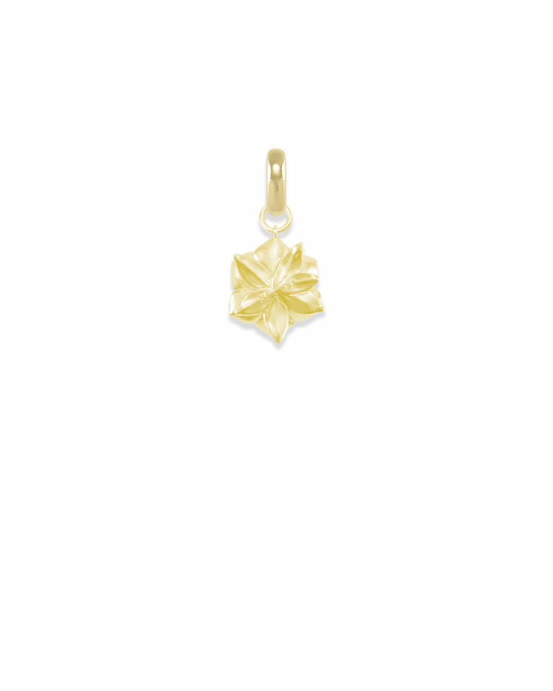 Mississippi Magnolia Charm in Gold
