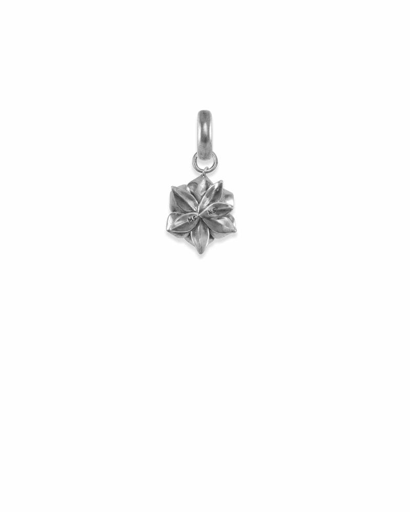 Mississippi Magnolia Charm in Vintage Silver