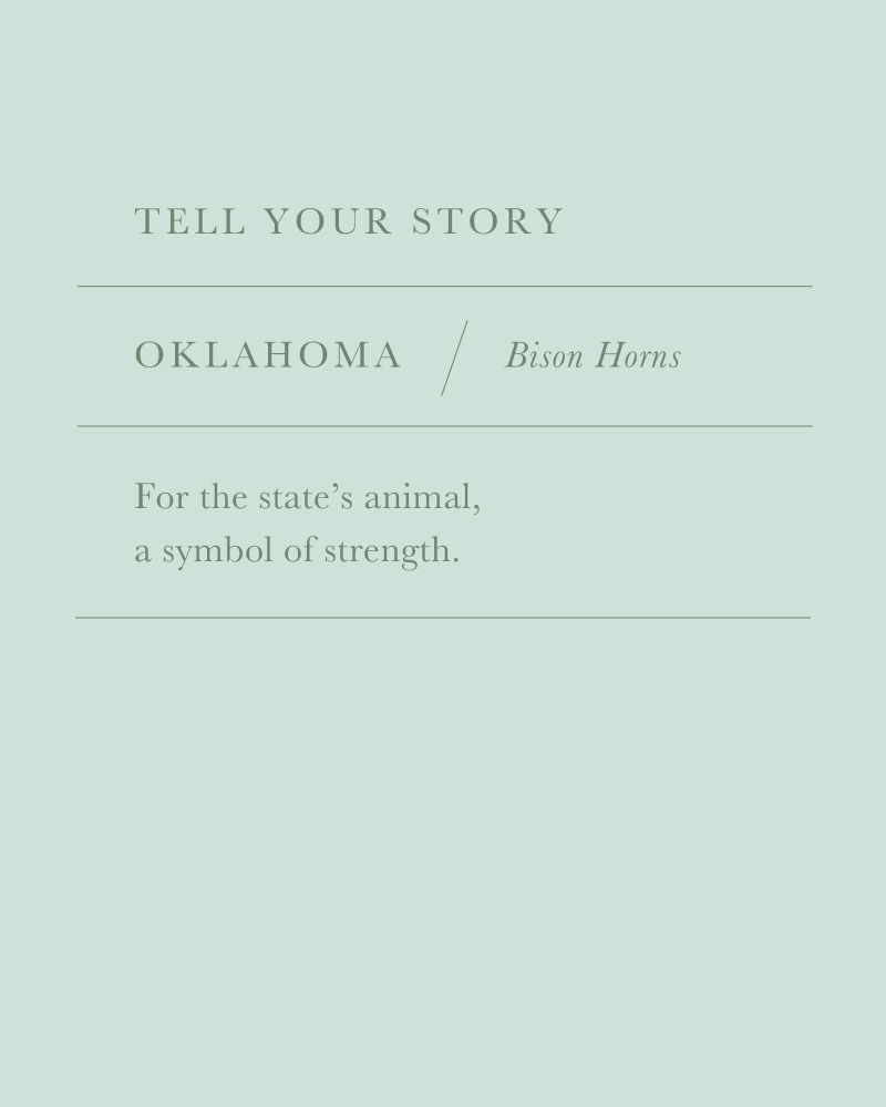 Oklahoma Bison Horns Charm in Vintage Gold