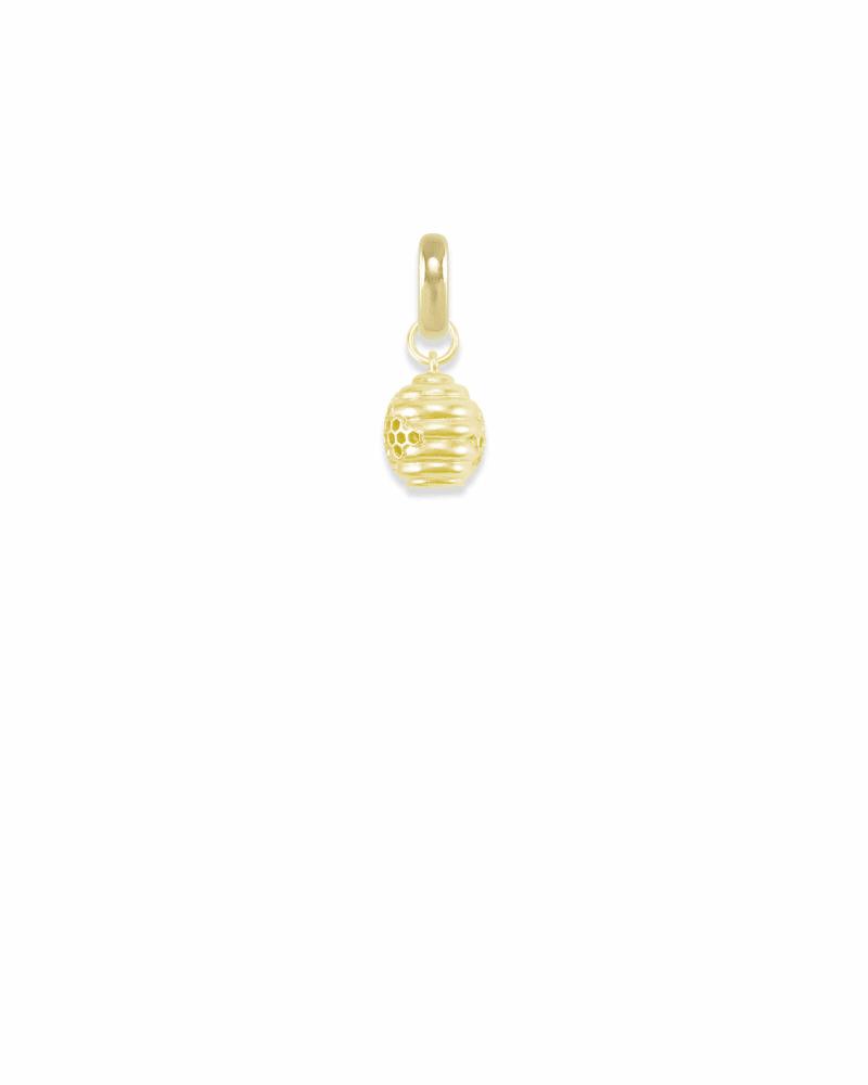 Utah Beehive Charm in Gold