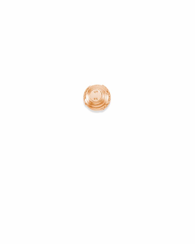 Utah Beehive Charm in Rose Gold