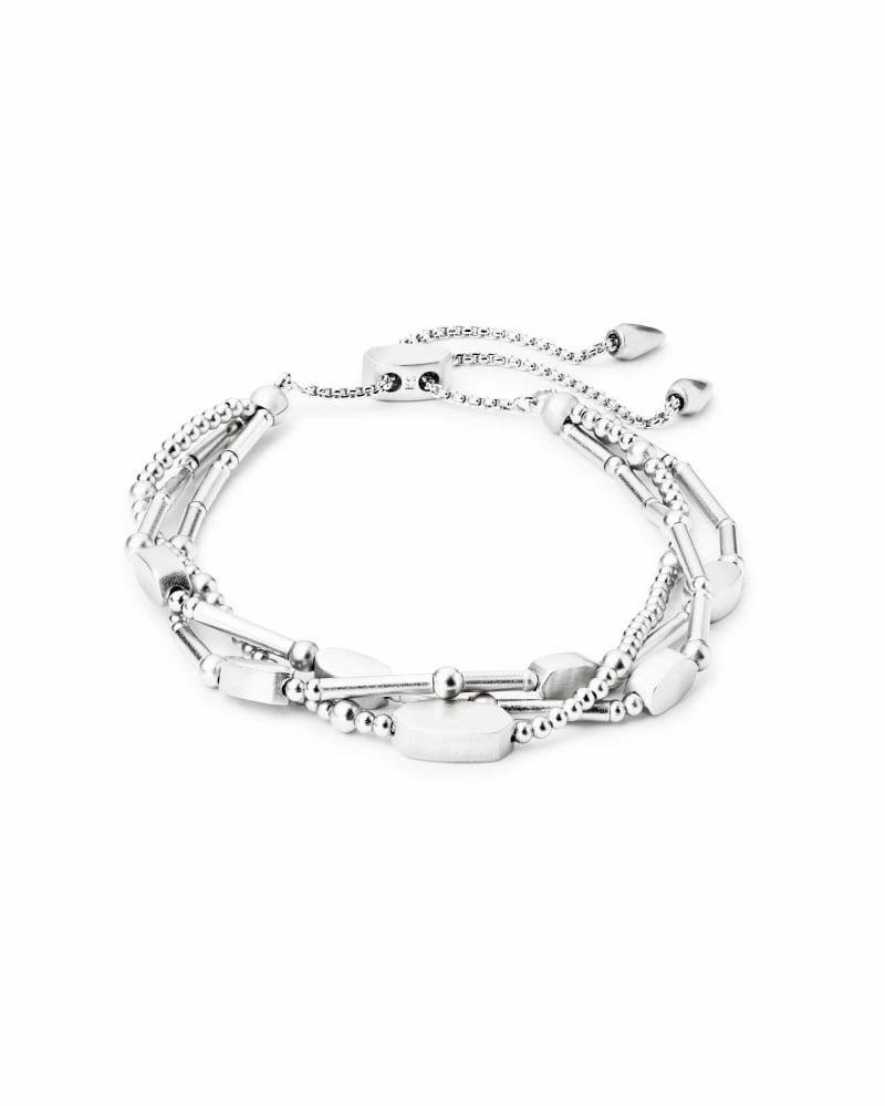 Chantal Beaded Bracelet in Bright Silver