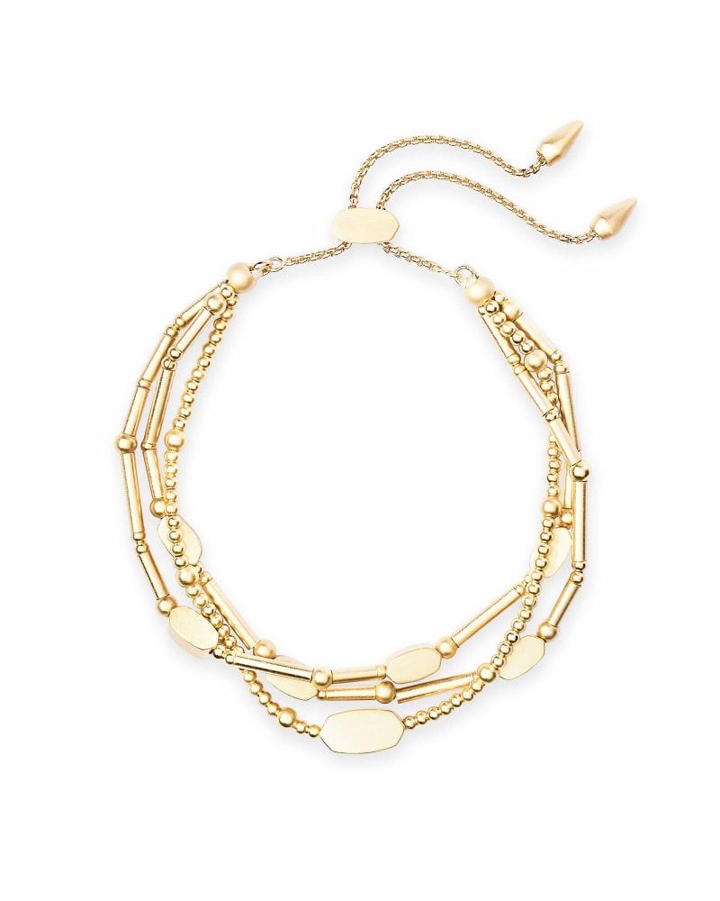 Chantal Beaded Bracelet in Gold