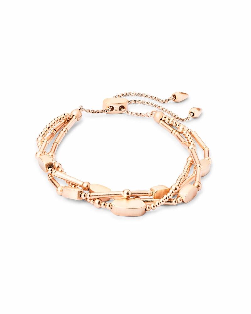 Chantal Beaded Bracelet in Rose Gold