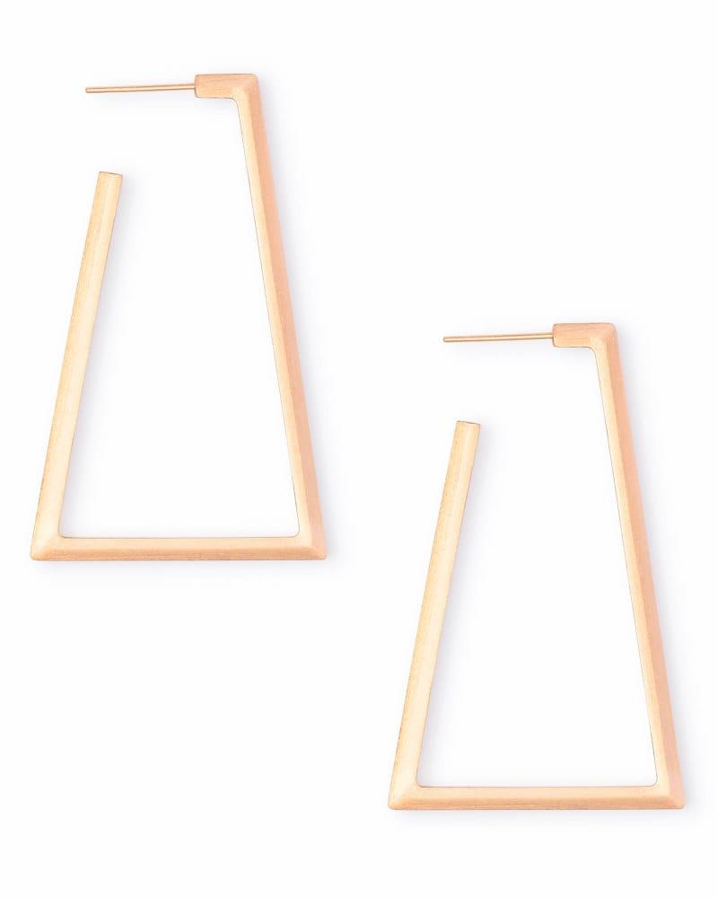 Easton Hoop Earrings in Rose Gold