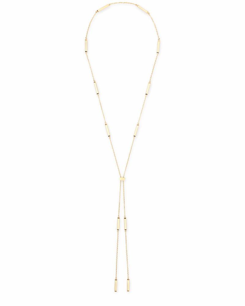 Josephine Y Necklace in Gold