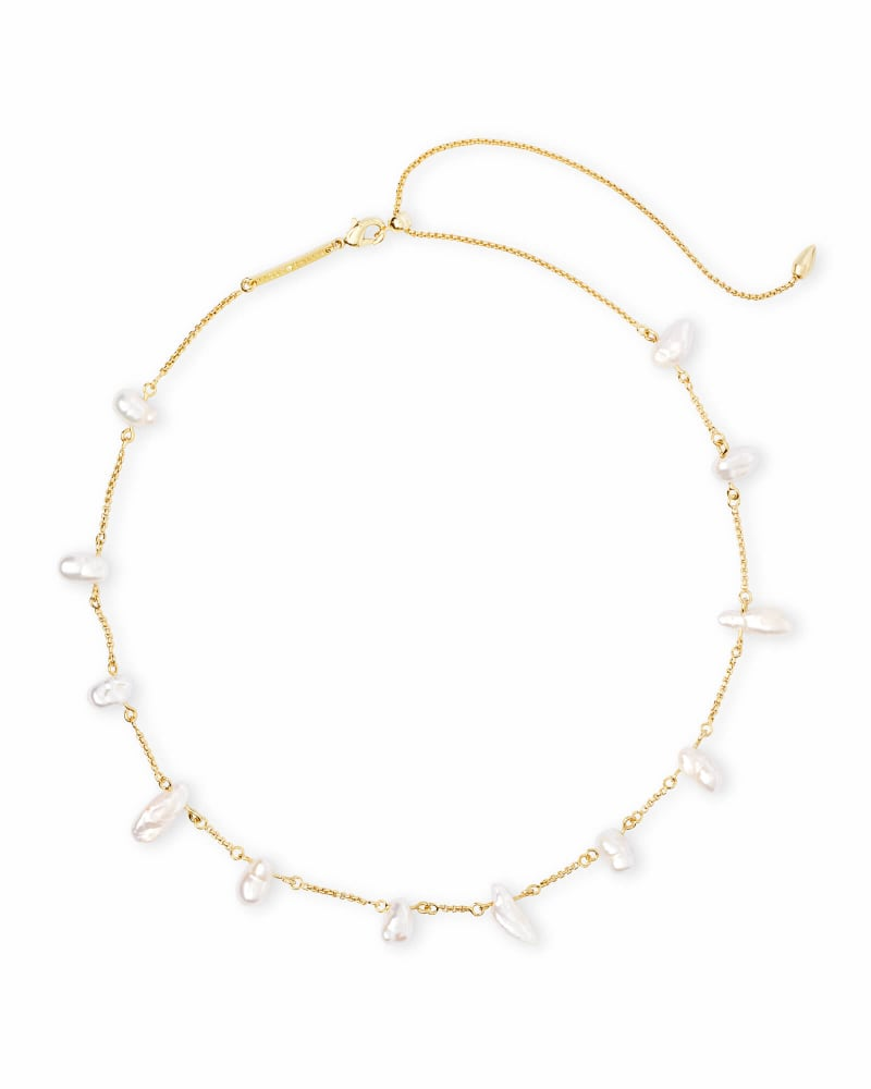 Krissa Choker Necklace in Pearl