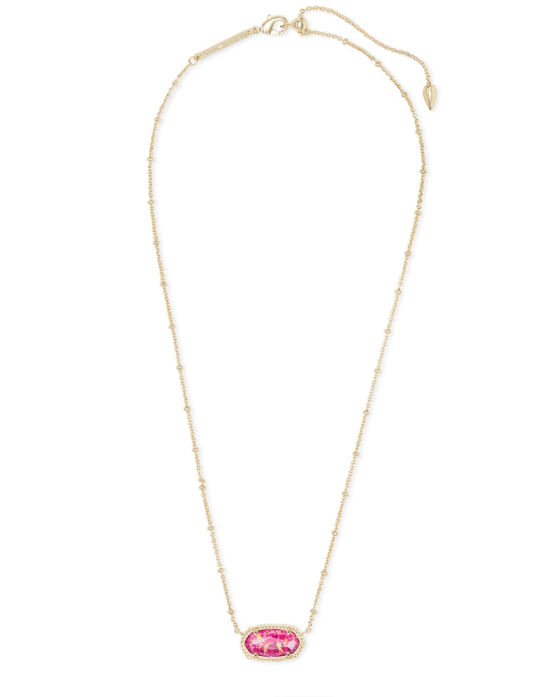 Elisa Gold Satellite Pendant Necklace in Berry Kyocera Opal Illusion