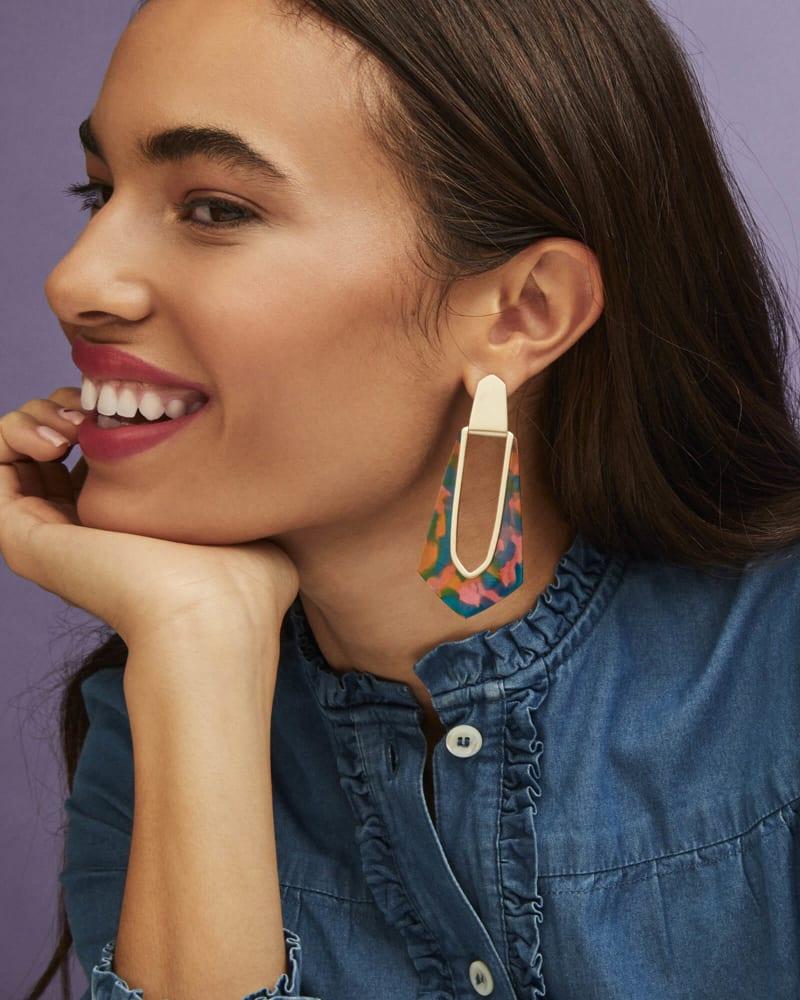 Kiernan Statement Earrings in Acetate