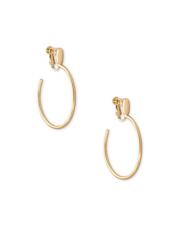 Small Pepper Clip On Hoop Earrings