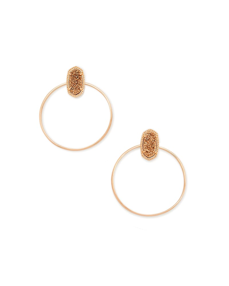 Mayra Hoop Earrings In Rose Gold