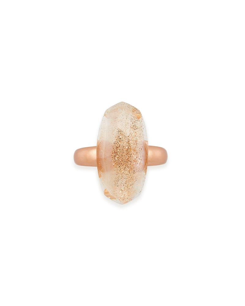 Dani Rose Gold Cocktail Ring in Gold Dusted Pink Illusion